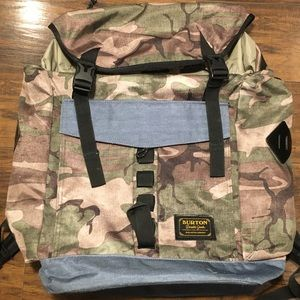 Burton Camouflage Boarding Backpack. Preowned